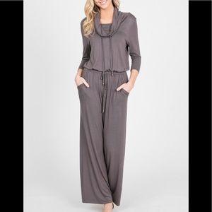 Comfy Gray Jumpsuit
